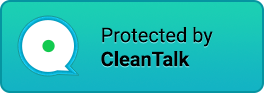 anti-spam protected logo blue
